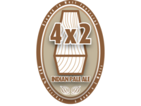 4x2 Beer Label