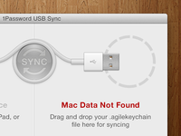 1Password USB Sync - Data Not Found