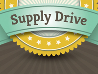 School Supply Drive Badge