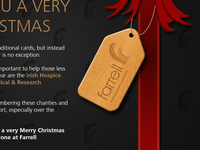 Christmas Card - Wooden Tag