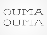 "OUMA Logo Refined. Monolinear & ""Handdrawn"" Versions"