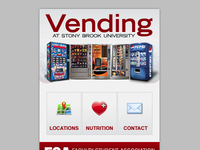 Mobile Website for Vending