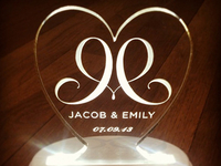 Glass Cake Topper