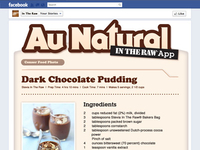 "Au Natural ""In The Raw"" Recipe Page"