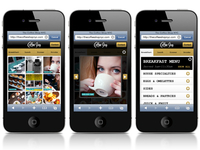 Coffee Shop Restaurant Mobile Website