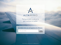 AltaWing Prelaunch Website