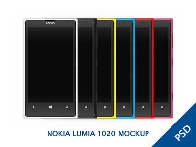 Download Nokia Lumia 1020 Colorful Mockup