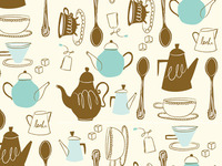 Tea Time Repeating Pattern
