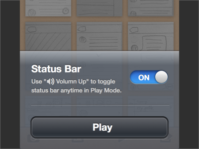 Toggle Status Bar in POP
