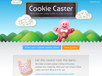 Cookiecaster web design
