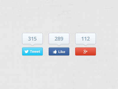 Download Social Buttons – Free PSD