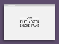 Flat Vector Chrome Frame