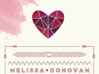 Mel & Dono's Wedding Invitation Set