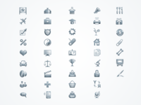 Icons for European Business Association site