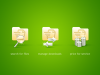 Icons for file hosting service