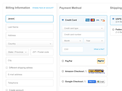 Column Checkout