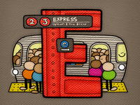 E is for Express Train!