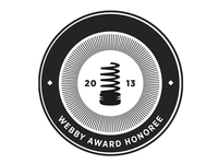Official Honoree on Webby Awards