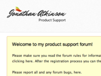 Jonathan Atkinson support forum