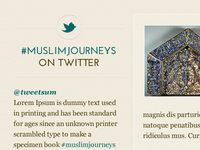 Muslim Journeys twitter stream