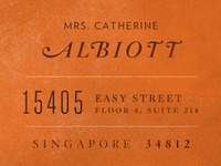 Albiott Return Address