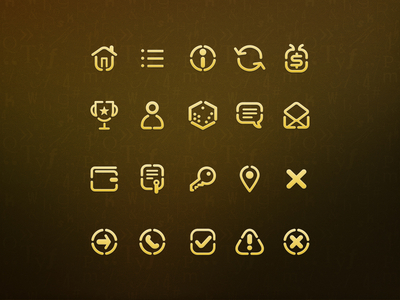 Math game icons