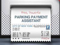 Ticket Payment Mockup Parkbud iPhone App