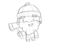 Diddy Woodsman Sketch