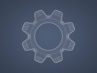 Constructing a gear icon