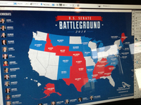 U.S. Senate Battleground infographic