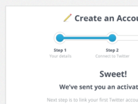 TweetDig - Signup Process
