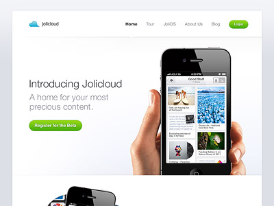 Jolicloud-website