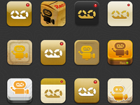 The history of Recood app icons (till now~)