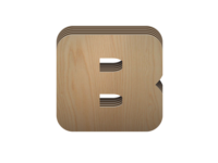 Trim Blox icon, textured