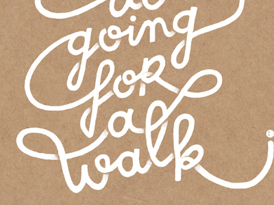 Doing_for_a_walk_dribbble