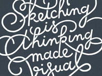 Sketching is thinking made visual