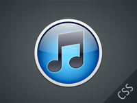 Pure CSS3 iTunes Icon