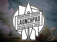 The Launchpad - Rocket circle badge
