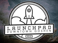 The Launchpad - Rocket circle badge II