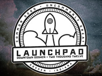 The Launchpad - Rocket circle badge III