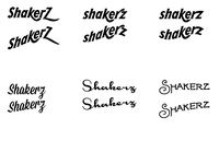 Shakerz brand and product label - Type treatments