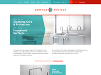 Surface Protect logo + web