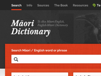 Maori Dictionary Home