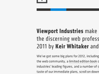 Viewport Industries website, tease 4