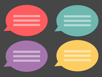 Flat Speech Bubbles
