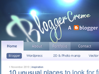 An old Blogger design