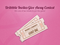 Dribbble Invites Give Away Contest