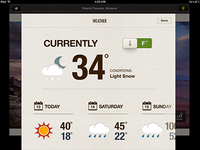Weather on iPad