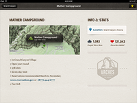 Camping Detail on iPad