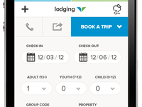 Snowbird Mobile Site booking widget